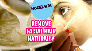 how to remove hair naturally