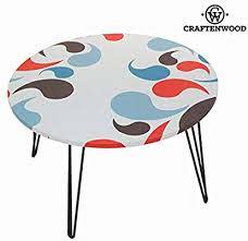 retro vintage round coffee table with