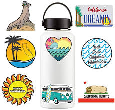 Amazon Com Hydroflask Vsco Stickers Pack California Dreaming 8 Waterproof Decal Decorations For Hydro Flask Water Bottle Laptop Notebook Skateboard Journal Scrapbook Car Bumper Made In Usa Labels