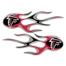 Atlanta Falcons Nfl Micro Flames Auto Decal 2 Pack For Car Truck Motorcycle Bike Mailbox Locker Sticker Football Licensed Team Logo Frank L Tuckerkie