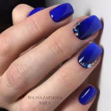 bright blue nails the best images