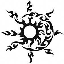 Tribal Sun Vinyl Decal Sticker Ballzbeatz Com Hawaiiantattoos Maori Tattoo Hawaiian Tattoo Pattern Tattoo