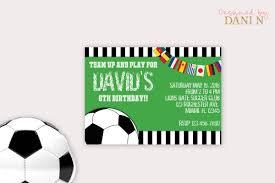 Invitacion Fiesta De Futbol Invitacion De Cumpleanos De Etsy
