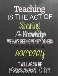 teaching is the act of sharing the knowledge teacher