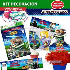 Kit Imprimible Star Wars Invitacion Decoracion D24 29 00 En