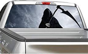 Amazon Com Grim Reaper 3 Rear Window Graphic Decal Sticker For Truck Suv 4 Sizes 14 X 53 Automotive