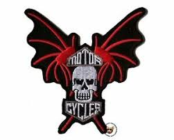 Bat Wings Skull With Wings Vest Patch Small Free Usa Shipping Motorcycle Ebay