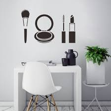 Beauty Salon Wall Stickers Makeup Quote Wall Decals Make Up Wall Art Lips Decal Sticker Lipstick Brushes Girls Room Decor A4 Wall Stickers Aliexpress