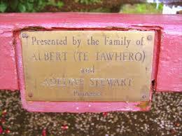 Pioneers, Albert and Adeline Stewart. Whakatane. New Zealand. - Dedicated  Benches on Waymarking.com