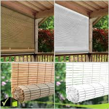 Cordless Roll Up Blind Outdoor Sun Shade Patio Deck Pvc Manual Roll Up Exterior Wish