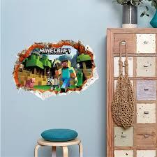 Mobel Wohnen Cartoon Minecraft Wall Stickers For Kids Rooms Children 3d Window Bedroom Maybrands Com Ng
