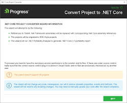 net core project converter telerik ui
