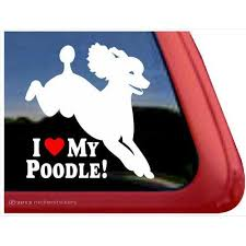 I Love My Poodle Poodle Vinyl Window Auto Decal Sticker Vinyl Window Decals Window Vinyl Dog Decals