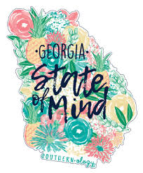 Southernology Georgia State Of Mind Decal Shopsouthernology Com