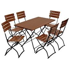 beer garden rect table 6 chairs