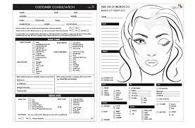 makeup artist consultation card