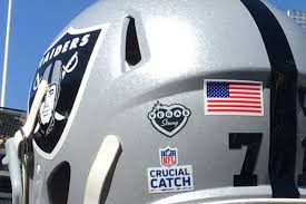 Raiders Wear Vegas Strong Helmet Decals In Support Of Victims Of Las Vegas Terrorist Attack Silver And Black Pride