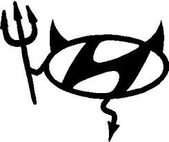 Hyundai Devil Lettering Decal Sticker