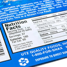 nutrition facts label for food s