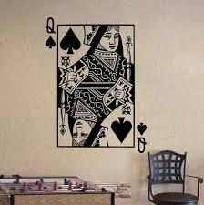 Queen Of Spades Playing Card Poker Blackjack Vinyl Wall Etsy Vinyl Wall Stickers Queen Of Spades Vinyl Wall