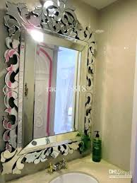 large mercury glass wall mirror removal