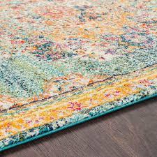haigler blue yellow area rug