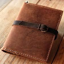dark brown leather organizer travel