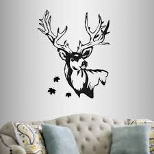 Wall Vinyl Decal Deer Head Buck Animal Hunting Hunter Room Wall Sticker 2218 Ebay
