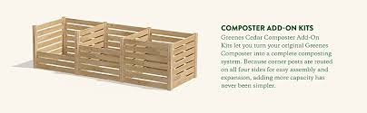 Amazon Com Greenes Fence Rccomp48adk Cedar Wood Composter Add On Kit 48 L X 48 W X 31 H 309 17 Gallons Garden Outdoor