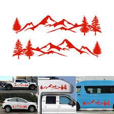 Auto Parts Accessories Tree Mountain Northwest Decal Scene Vinyl Decals Stickers For Car Truck Rv Diy Smaitarafah Sch Id