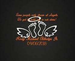 Amazon Com Celycasy Infant Loss In Loving Memory Vinyl Decal Baby Memorial Decal Car Decal Phone Decal Craft Decal Customizable Personalize Kitchen Dining