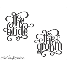 Bridal Party Decals Bridal Party Stickers Wedding Decals Etsy