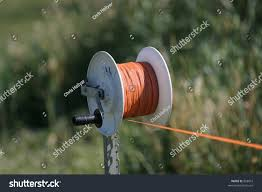 Polywire Spool Portable Electric Fence Orange Stock Photo Edit Now 858810