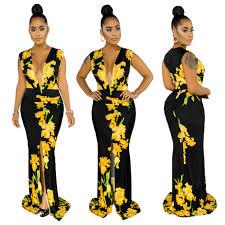 2020 women summer dress fl print