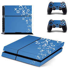 Custom Blue Symbols Ps4 Skin Sticker Decal Cover For Sony Ps4 Playstation 4 Console And 2 Controller Skins Consoleskins Co