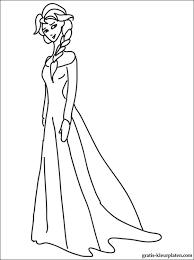 Kleurplaat Van Prinses Elsa Gratis Kleurplaten