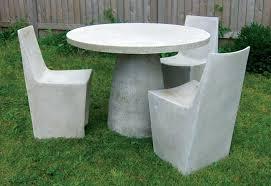 make concrete furniture small