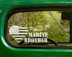 Proud Marine Brother Decal Us Marine Decal Us Flag Sticker Chi Omega Decal Stickers Nissan Logo