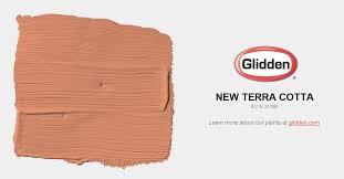 new terra cotta paint color glidden