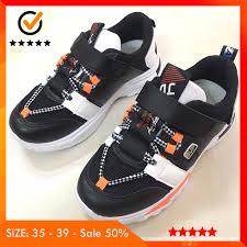 Giày Thể Thao Bé Trai Từ 8 Tuổi Siêu Đẹp Màu Đen Trắng Cam Có Quai Dán  Style Hàn Quốc Thời Trang Cho Mùa Đông 2019 - P444562