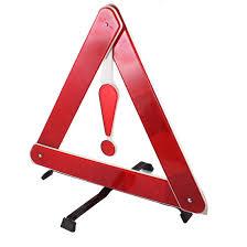 Unique Bargains Sign Plastic Reflective Triangle Car Sticker Placard Red Walmart Com Walmart Com