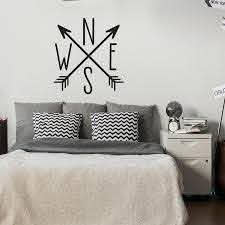 North East South West Compass Arrows Wall Decal Arrow Cross Nautical Theme Decor Vinyl Decal For Bedroom Home Decoration Boy Wall Decals Boys Wall Decals From Joystickers 14 07 Dhgate Com