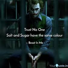 trust no one salt and sug quotes writings by beast in me