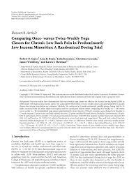 versus twice weekly yoga cles