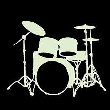 Pin On Drums And Guitars