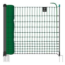 Voss Farming Farmnet 50m Chicken Netting Poultry Non Electric 112cm 16 Posts 2 Spikes Green