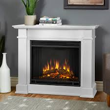 real flame devin petite white electric