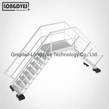 China Industrial Crossover Stairs With Handrails For Rooftop China Rooftop Crossover Ladder Crossover Ladder