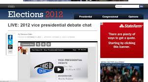 Vice Presidential Debate live chat ...