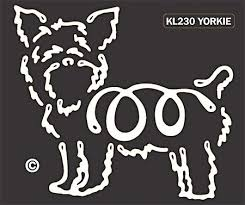 Raining Cats And Dogs Yorkshire Terrier Window Decal